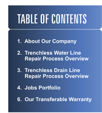 table of contents for our August Newsletter