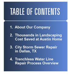 Newsletter table of contents