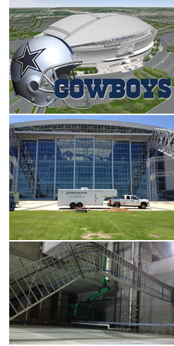 Cowboy stadium water line repair
