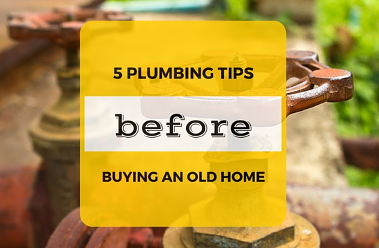 5 plumbing tips before buying an old home