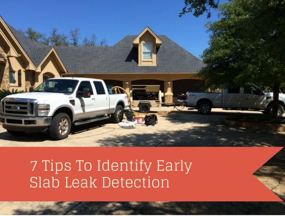 7 tips to identify early slab leak problems
