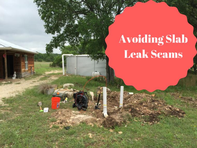avoiding slab leak scams