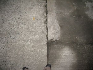 concrete slab leak