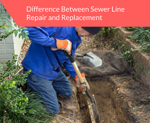 difference between sewer line repair replacement