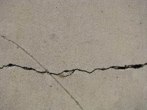 foundation slab crack