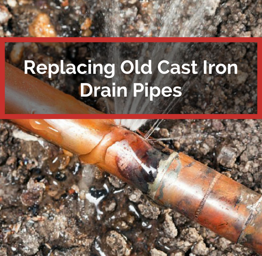 Replacing old cast iron drain pipes in your home