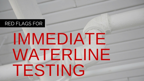 immediate water line testing