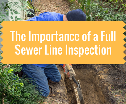 importance of a full sewer line inspection